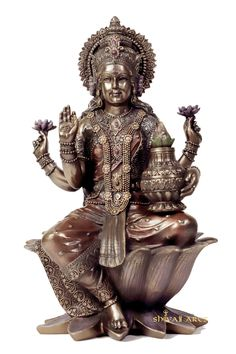 Large Lakshmi statue,12inches, Lakshmi Statue, Big Bronze Sitting Lakshmi Statue, Goddess Of Success, Wealth, Fortune & Prosperity by Shivajiarts on Etsy Lakshmi Statue, Ganesh Statue, Lord Vishnu, Lord Shiva, Shiva Photos, Good Luck Gifts, Diwali Gifts, Shiva Shakti, Goddess Lakshmi
