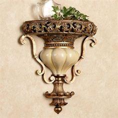 Tuscan design – Mediterranean Home Decor Wall Shelf Decor, Wall Shelves, Tuscan Furniture, Yellow Marble, Applique Led, Tuscan Design, Tuscan Decorating, Decorating Ideas, Interior Decorating