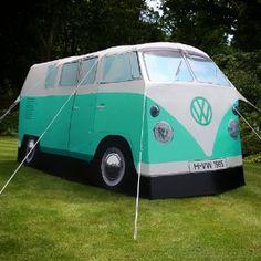 VW camper van tent.  Love it.