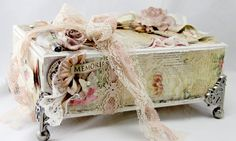 Altered cigar box Trinket Jewelry by tiffanyspaperdesigns on Etsy.  soo pretty
