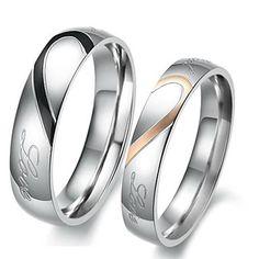 Couple Rings: Men size 10 - Women size 7