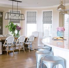 Bespoke Villa Interior Design in Dubai. Our expertise will give your villa a creative look with the bespoke design. Bright Kitchens, Home Kitchens, Estudio Mcgee, Architectural Consultant, Farmhouse Style Table, House Front Design, Interior Design Companies, Slipcovers For Chairs, Side Chairs