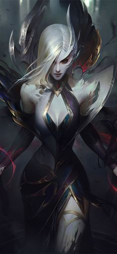 Joining their fellow Coven sisters, Camille and Lissandra are two more new recruits and their queen. Meet Coven LeBlanc, Coven Zyra and Coven Morgana, Lol League Of Legends, Morgana League Of Legends, League Of Legends Characters, League Of Legends Yasuo, Character Inspiration, Character Art, Character Design, Character Ideas, Dark Fantasy Art