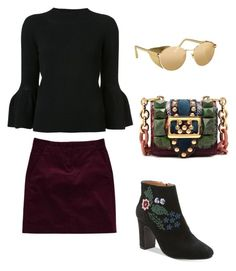 """""""Fall"""" by the-expensive-minimalist on Polyvore featuring Carolina Herrera, Theory, Burberry, Nanette Lepore and Linda Farrow"""