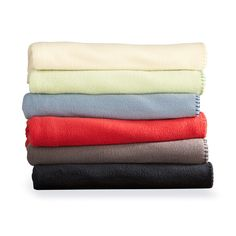 Lightweight all season comfort. These cozy fleece throws will be a family favourite. #SearsBack2Campus