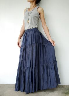 peasant skirt no. 5.  I just love peasant skirts.