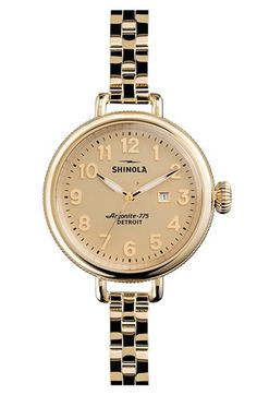 Shinola 'The Birdy' Bracelet Watch, 34mm | Nordstrom Made in Detroit!  First American made watch brand in 2 generations