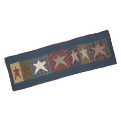 Patch Magic Small Allstar Table Runner, 54-Inch by 16-Inch by Patch Magic. $31.00. Table Runner, Small 54-inch by 16-inch. 100-Percent Cotton, Handmade, Hand quilted. 100% Cotton. Matching Accessories available. Rustic Bright Star Haze glows