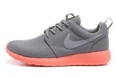 best service bbd21 dbd0c Today s Deals Mens Nike Roshe Run Medium Grey Wolf Grey Bright Mango Shoes  The Most Flexible Running Shoes