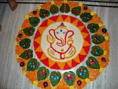 Happy Diwali Rangoli 2015, Images, Wallpaper. Beautiful candle lamps images, all three of them covered with lovely flowers, such a nice decoration which can