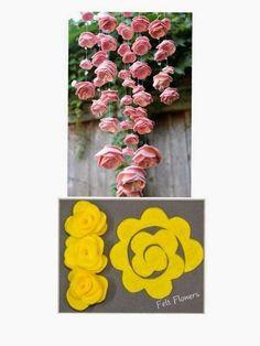 Hobilendik Keçe Çiçeklerden Sarkıt Süs Yapımı