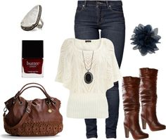 """""""Brown & Navy Blue"""" by chelsea-helton ❤ liked on Polyvore"""