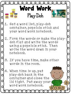 Tori's Teacher Tips: Daily Word Work! sample of one task Daily 5 Stations, Daily 5 Centers, Word Work Stations, Word Work Centers, Reading Stations, Literacy Centers, Literacy Stations, Reading Groups, Reading Centers