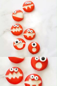 Cute, easy HALLOWEEN SNACKS FOR KIDS! Easy Babybel cheese monsters. Healthy snack for Halloween class parties or Halloween party appetizers. Halloween Snacks For Kids, Halloween Party Appetizers, Halloween Class Party, Halloween Couples, Halloween Costumes, Halloween Nails, Halloween Crafts, Halloween Makeup, Halloween Decorations