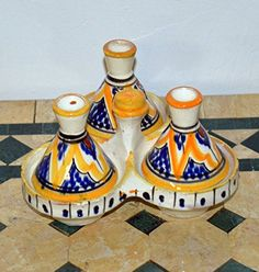 ceramic Moroccan Hand Made Serving Spices Tagine Mediterranean Serving Spices