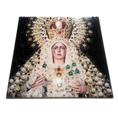 A new wonderful ONE OF A KIND ceramic icon dedicated to the Virgin of Hope of Macarena is available in our Etsy Store: >>> https://www.etsy.com/listing/568326421 <<<  Decorated by a lot of wonderful and very shining rhinestones. Unique.  It could be a very very special christmas gift for your loved ones :)