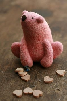 pink needle felted polar bear | Flickr - Photo Sharing!