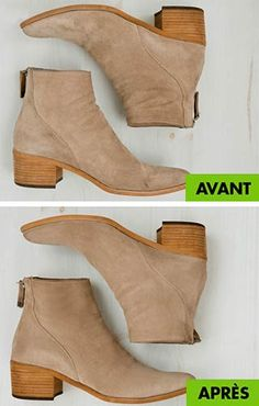 comment nettoyer le daim Suede Boots, Diy Fashion, Cleaning Hacks, Booty, Good Things, Couture, Lifestyle, Leather, Shoes