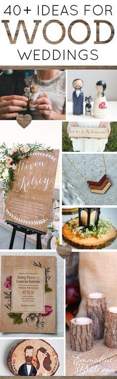 40+ Wood Themed Wedding Ideas | http://emmalinebride.com/themes/wood-themed-wedding-ideas/