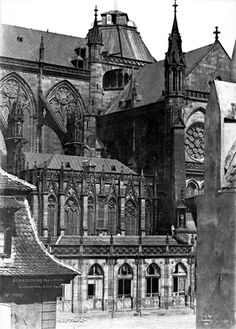 Henri Le Secq atop the Notre Dame Cathedral. Paris, France, 1853 August 2016 / Photography News / Born 198 years ago, on 18 August. Old Paris, Vintage Paris, Strasbourg Cathedral, Sacred Architecture, French Photographers, Beautiful Pictures, History, Cathedrals, Photography