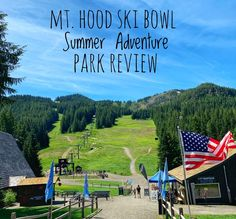Check out Mt Hood Skibowl Adventure park in the summer for a half mile Alpine Slide, bungee jumping, zip lining, arial park, race cars and more. Fun for the entire family! Mt Hood Skiing, Alpine Slide, Bungee Jumping, Pacific Northwest, British Columbia, Summer Fun, Kayaking, Saving Money, Backdrops