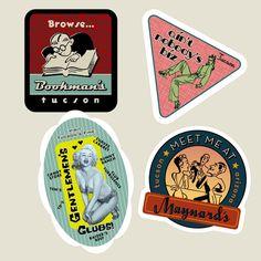 Tucson Vintage Style Travel Stickers on Behance