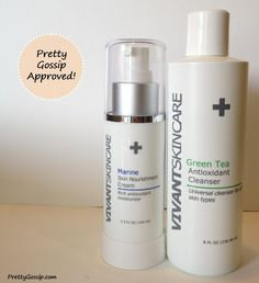@Vivant Skin Marine Cream and Green Tea Cleanser Review on www.PrettyGossip.com