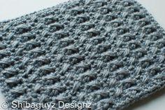 Week  #4  Scavenger Hunt Block  Free crochet afghan block pattern for Warm Up America by Shibaguyz Designz.