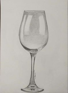 bleistiftzeichnung 'Wine glass' in pencil Pencil Sketches Easy, Pencil Drawings For Beginners, Beginner Sketches, Pencil Drawings Of Flowers, Pencil Sketch Drawing, Art Drawings Sketches Simple, Pencil Art Drawings, Easy Still Life Drawing, Still Life Sketch