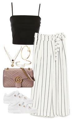 """""""Untitled #4505"""" by theeuropeancloset on Polyvore featuring Topshop, Jimmy Choo, Gucci, LowLuv and Cartier"""