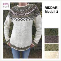 Fargekombinasjon til telja? Icelandic Sweaters, Knit Jacket, Knit Crochet, Weaving, Couture, Knitting, Jackets, Fashion, Knitting Sweaters