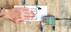"""Play the addictive smartphone game """"Flappy Bird"""" on your Touch Board! All you need is the Touch Board, Adafruit's NeoPixel shield and some Electric Paint. Flappy Bird, Creative Workshop, Arduino, Touch, How To Make, Paint, Electronics, Game, Board"""