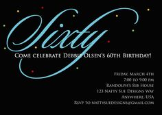 6 Best Images Of 60th Birthday Invitations Free Printable
