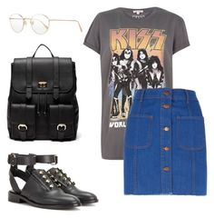 """""""⚡"""" by martasolarska ❤ liked on Polyvore featuring Oliver Peoples, River Island, Balenciaga and Sole Society"""