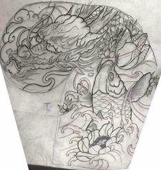 Japanese Tattoo Women, Japanese Dragon Tattoos, Japanese Tattoo Designs, Japanese Tattoo Art, Dragon Tattoo Colour, Dragon Tattoo Art, Dragon Tattoo Designs, Koi Tattoo Sleeve, Full Sleeve Tattoo Design