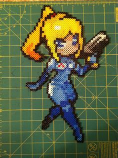 Samus Aran Bead Sprite by SewLaTiDoSeastars on Etsy, $15.00