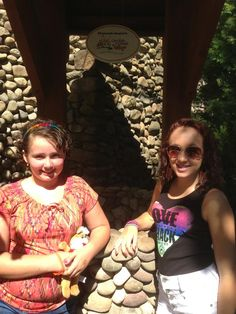 Smiling faces at the #GKTW wishing well at Knoebels Amusement Park in Pennsylvania.