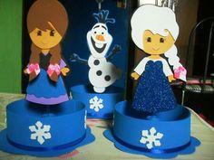 Centro de mesa frozen por Patrícia Souza.