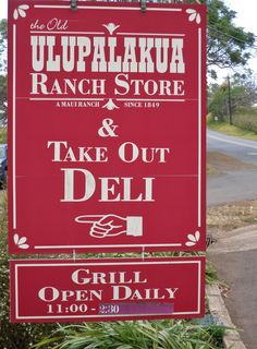 The Old Ulupalakua Ranch Store - Great sandwiches!