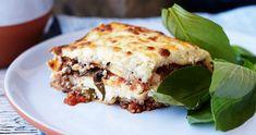 Lasagne med köttfärs och squash Ricotta, Mozzarella, Squash, Food And Drink, Ethnic Recipes, Foods, Recipes, Wine, Lasagna