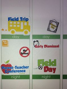29 School Stickers Perfect for your planner or by KarolinasKrafts, $4.00