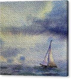 Sailboat At The Sea Canvas Print by Irina Sztukowski