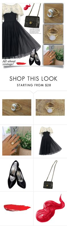 """All vintage!"" by samra-bv ❤ liked on Polyvore featuring Yves Saint Laurent, Chanel, Bobbi Brown Cosmetics and vintage"
