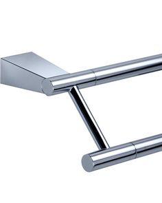 Gatco Bleu Chrome 24 Inch Double Towel Bar