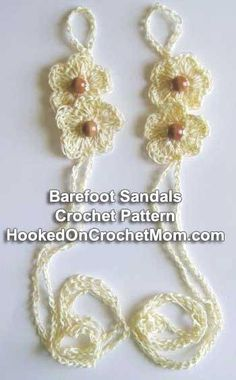Looking for your next project? You're going to love Barefoot Sandals Flower Crochet Pattern by designer LovetoCrochet.