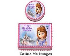 sofia the first birthday cakes - Edible images