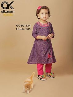 Latest AlKaram Kids wear Ready To Wear Collection summer season, Alkaram has involved in a fashion gala with its latest festive dress collection 2015 Wedding Dresses For Kids, Little Girl Outfits, Little Girl Dresses, Baby Boy Outfits, Girls Dresses, Baby Girl Fashion, Kids Fashion, Kids Frocks, Kids Suits