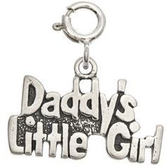 Sterling Silver 'Daddy's Little Girl' Charm (100 VEF) ❤ liked on Polyvore featuring jewelry, pendants, pandora jewelry, sterling silver jewelry, sterling silver jewellery, charms jewellery and charm pendant