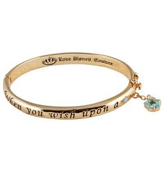Gold Plated Pinocchio When You Wish Upon A Star Bangle