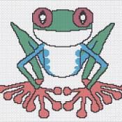 colorful tree frog afghan graph pattern - via @Craftsy